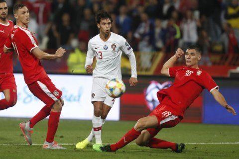 Ronaldo scores, Portugal beats Serbia 4-2 in Euro qualifier