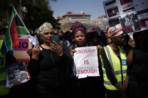 South Africans march again in outcry over rapes, murders