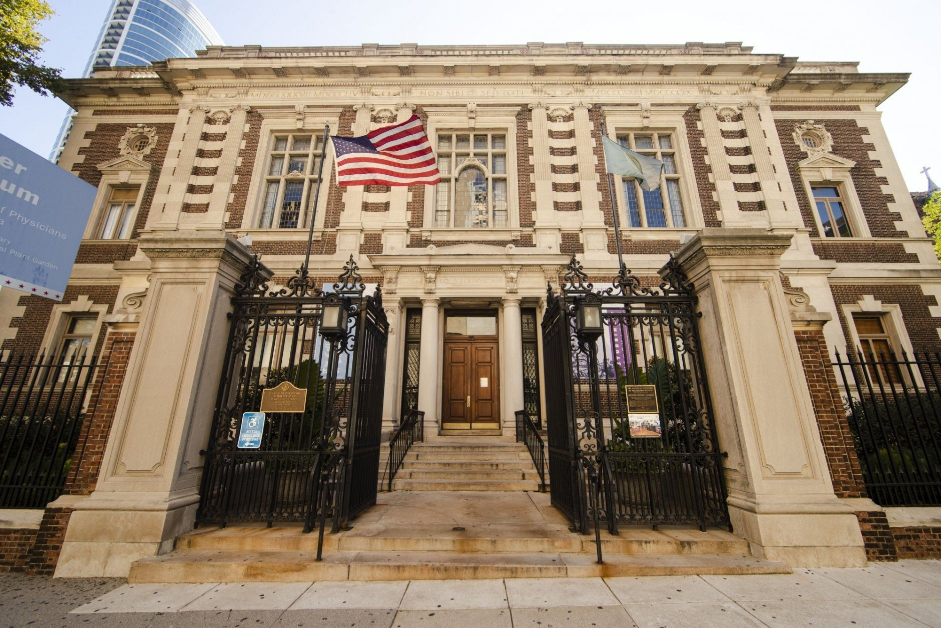 In this Sept. 17, 2019 photo shown is the Mutter Museum in Philadelphia. The museum nown for its collection of organs preserved in jars, deformed skeletons and wax casts of medical maladies, will have a new permanent exhibit on the 1918-1919 influenza pandemic in Philadelphia. (AP Photo/Matt Rourke)