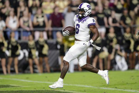 Anderson runs for 179 yards, 2 TDs; TCU beats Purdue 34-13