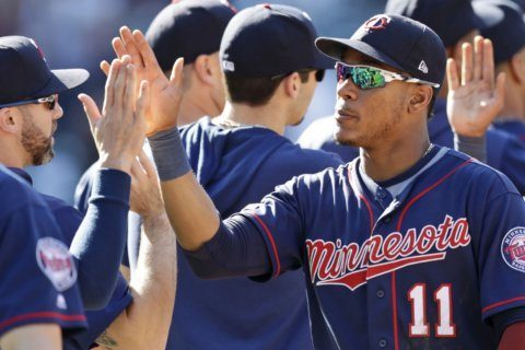 Sanó's grand slam leads Twins to sweep of Indians