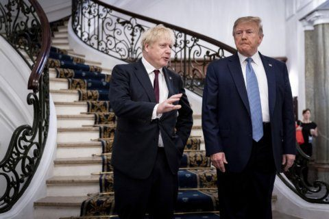 Johnson says he'll tell Trump: Hands off UK health service