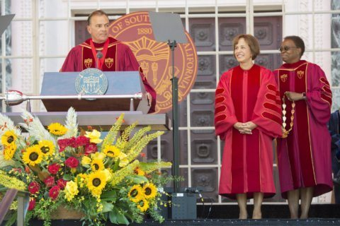 New president takes reins at scandal-plagued USC