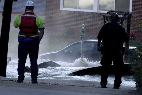 Water main break turns streets into rapids, requires rescues