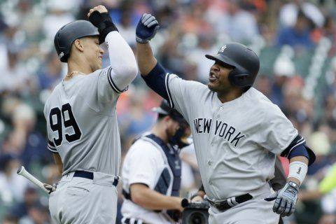 More injury woes for Yankees in doubleheader sweep of Tigers