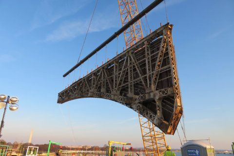 PHOTOS: Underneath the Arlington Memorial Bridge construction