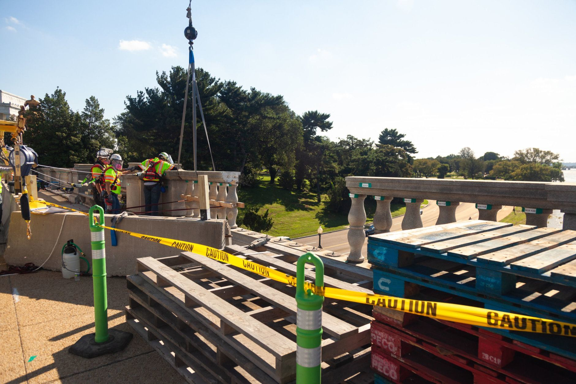 Balustrade Removal on Arlington Memorial Bridge