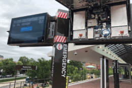 New visual displays at Braddock Road Metro station