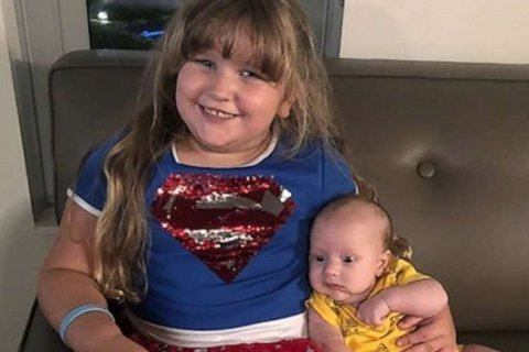 'Superhero' 4-year-old donating bone marrow to save her infant brother