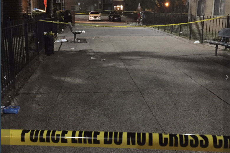 columbia heights shooting sidewalk with police tape