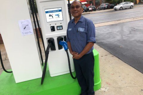 Learning curve at nation's first all-electric refueling station in Takoma Park