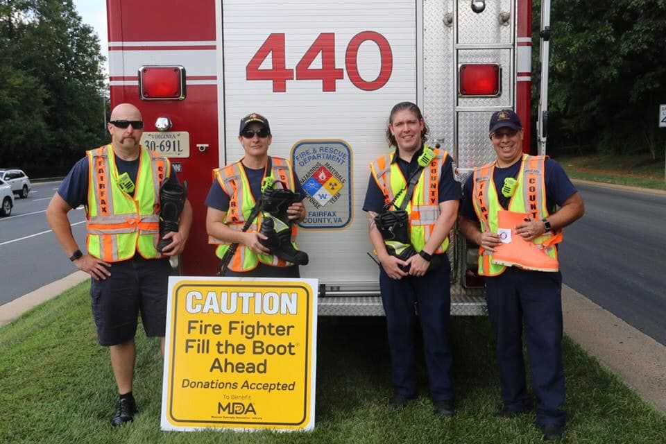 fairfax firefighters fill the boot