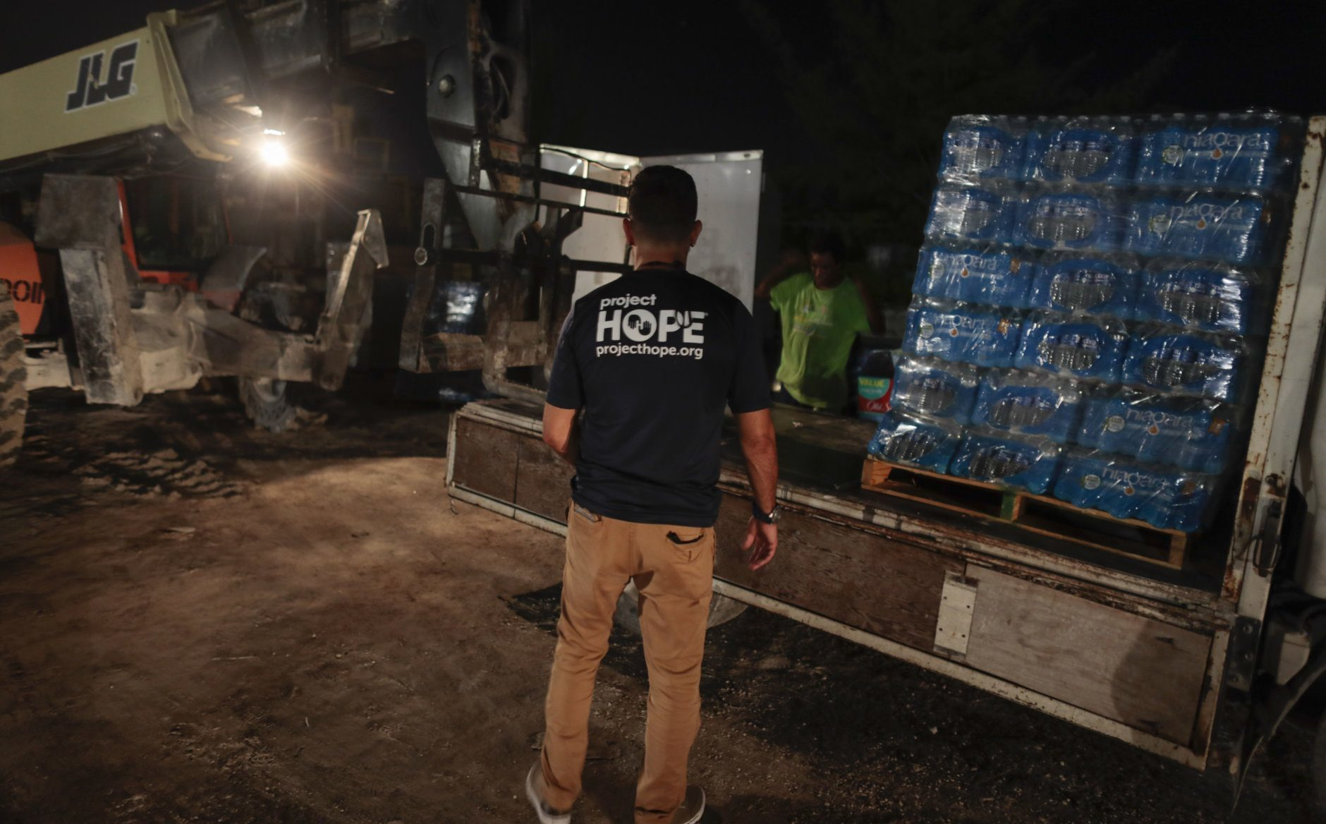 Gustavo Pagan, Logistician for Project Hope,works in Bahamas, Wednesday, Sept.4, 2019. (Javier Galeano, Project Hope)