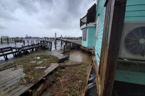 Dorian causes 'epic' flooding on NC island