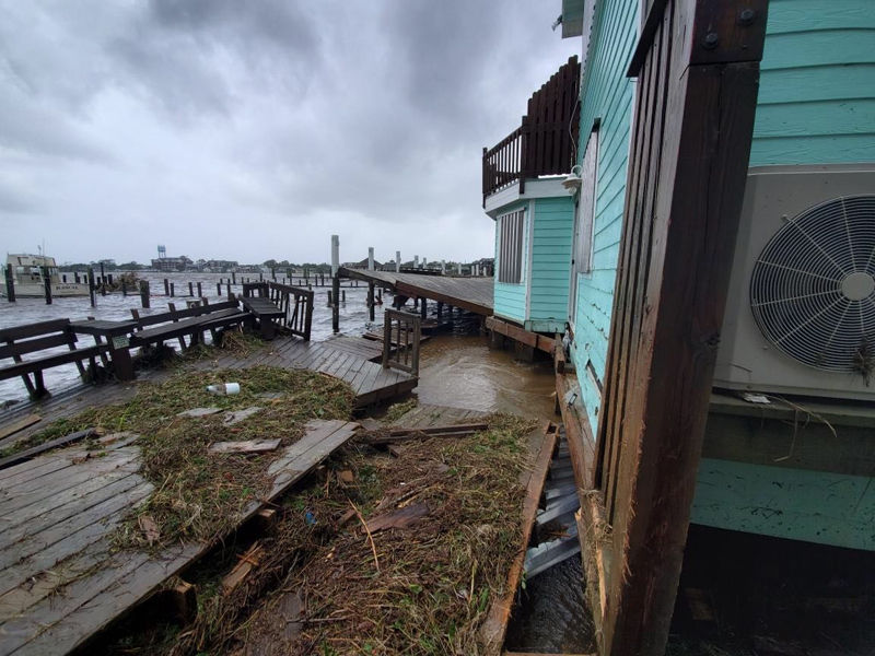Hurricane Dorian damage on North Carolina's Ocracoke Island