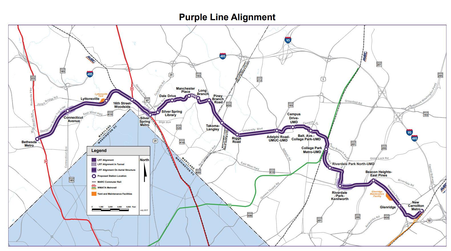 purple line route