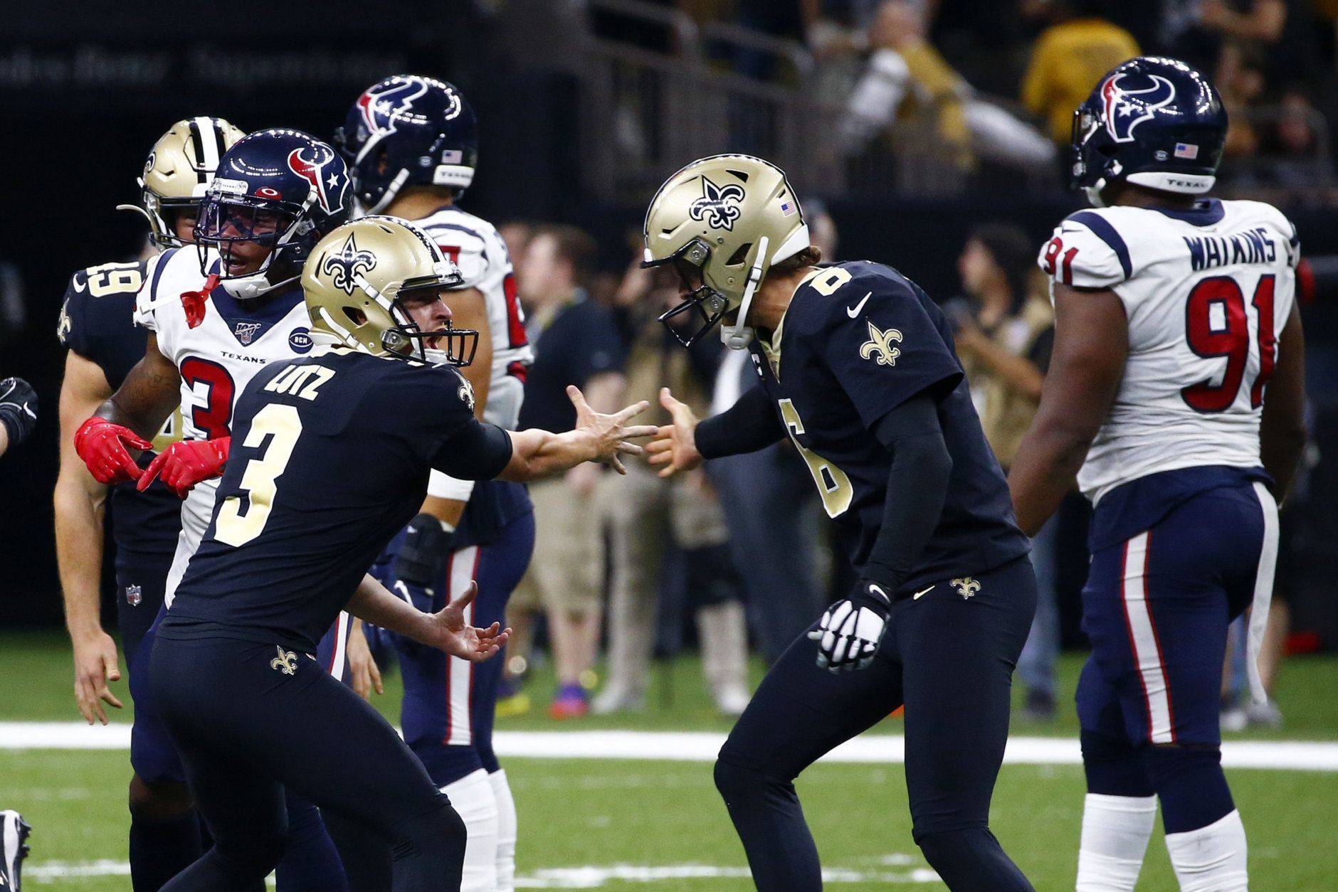 <p><strong><em>Texans 28</em></strong><br /> <strong><em>Saints 30</em></strong></p> <p>The back and forth between old school Drew Brees and new school Deshaun Watson. Former Saint Kenny Stills scoring the game tying touchdown in New Orleans and a roughing the kicker penalty that allowed redemption on a missed game-winning extra point. Will Lutz with a career-long 58-yard field goal to give the Saints their first season-opening win since 2013. Can we vote for this to be the Super Bowl?</p>