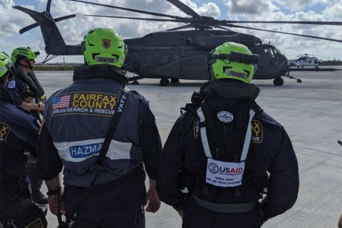 Fairfax Co. urban search and rescue team gets to work in Bahamas