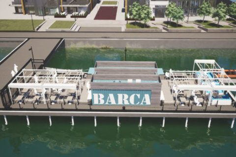 Two shipping containers to form Alexandria's newest waterfront bar