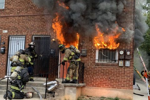 DC apartment fire sends man to hospital with critical injuries