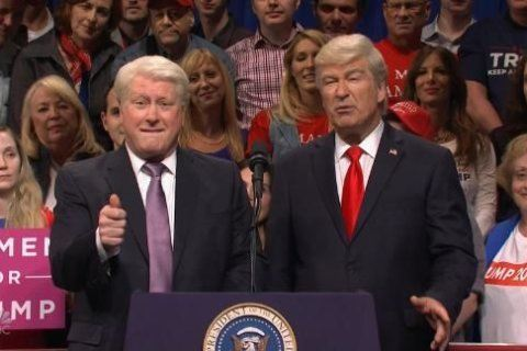 SNL has Alec Baldwin's Trump meets his supporters, Mark Zuckerberg and Bill Clinton at one of his rallies