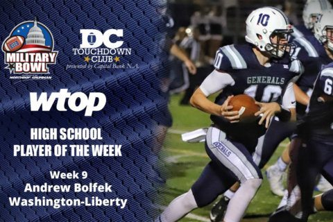 Washington-Liberty QB Andrew Bolfek throws 6 TDs to win Player of the Week