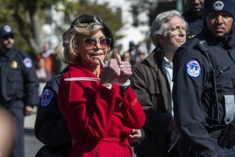 Jane Fonda, Sam Waterston arrested in DC; for Fonda, climate change has her picking up where she left off in '70s