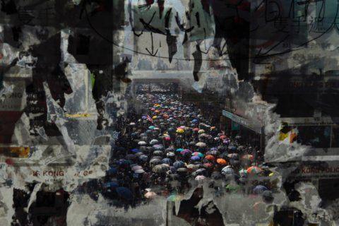 AP PHOTOS: A dramatic escalation of violence in Hong Kong