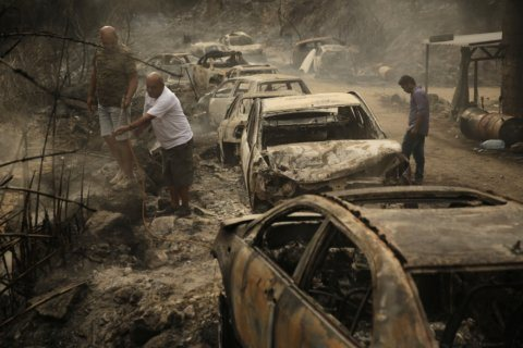 Wildfires spread through parts of Lebanon, Syria