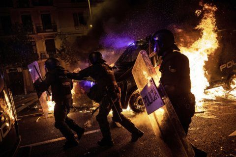 Riots darken Catalan separatist dream of peaceful secession