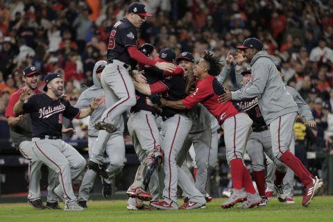 WATCH: Caps celebrate Nationals World Series Championship win