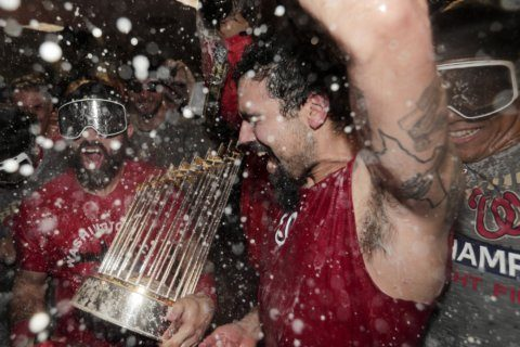 Nats trophy good as new after taking a beating post-World Series win