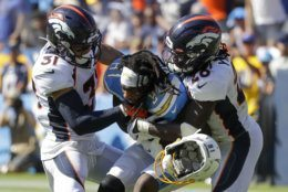 <p><b><i>Broncos 20</i></b><br /> <b><i>Chargers 13</i></b></p> <p>Denver got its first takeaway and its first win. For a team with Joe Flacco at QB, those aren&#8217;t mutually exclusive.</p>