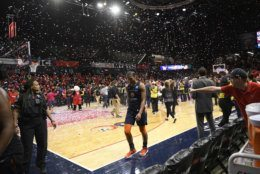 Connecticut Sun forward Alyssa Thomas leaves the court after Game 5 of basketball's WNBA Finals against the Washington Mystics, Thursday, Oct. 10, 2019, in Washington. (AP Photo/Nick Wass)