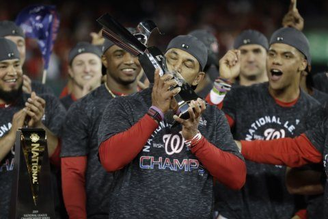 WATCH: 'Bumpy roads lead to beautiful places,' says Nats manager in triumphant speech