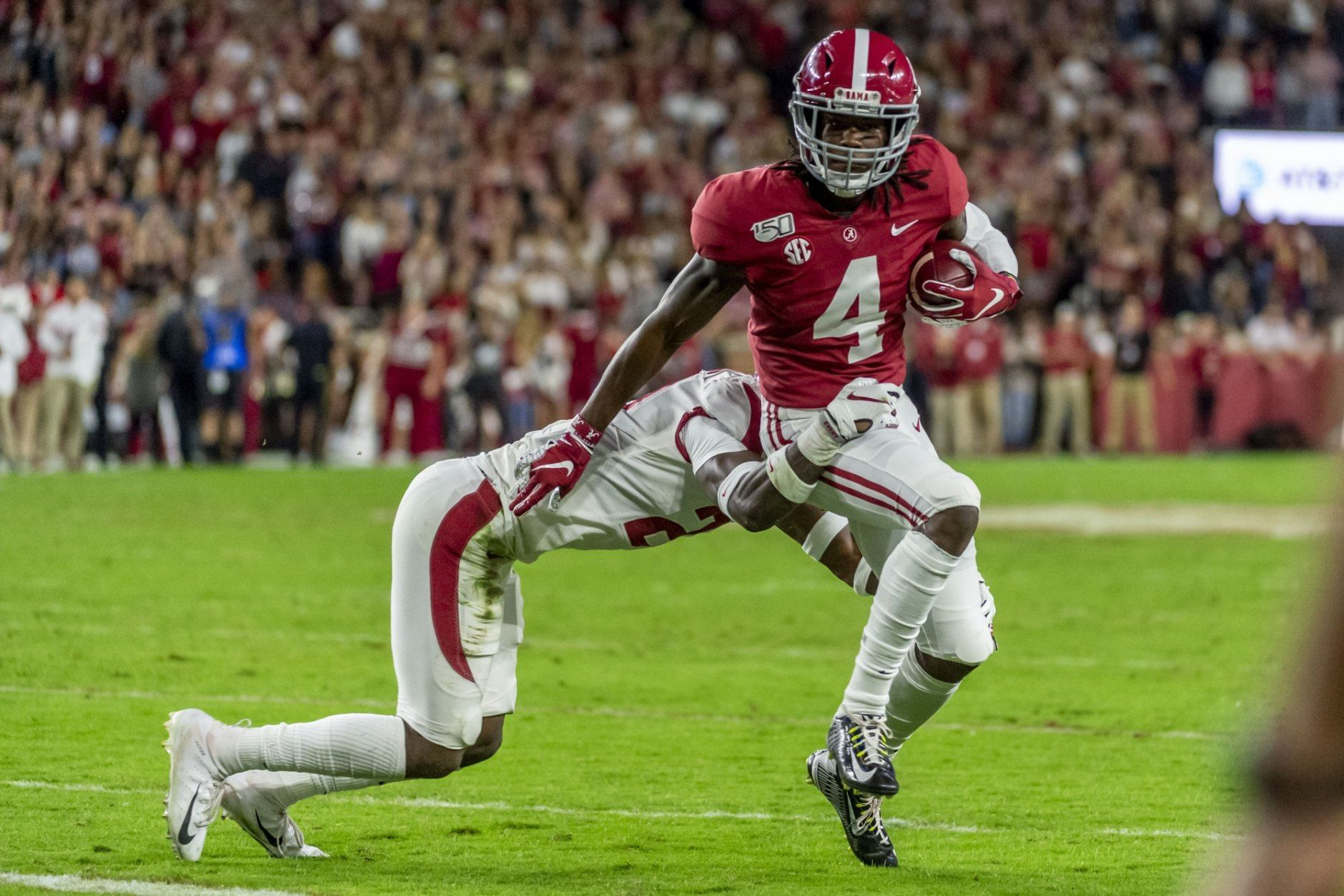 <p><strong>No. 3 Alabama (8-0):</strong> Beat LSU, Win SEC title</p> <p>It doesn't matter that the Crimson Tide are in third, instead of second, in the initial rankings. Alabama's season ultimately comes down to this weekend's home matchup with LSU. Lose that, and it's hard to see how they get in. Win, and even an Iron Bowl loss wouldn't be deadly. They could still take down Georgia or Florida big in the title game and get in with one loss.</p>