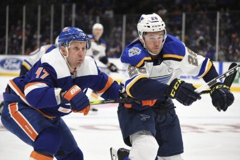 Islanders stun Blues with 3-2 overtime win