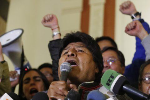 Rioting erupts as Bolivia says Morales near outright win