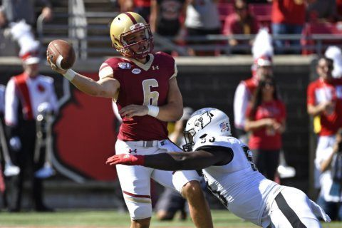 BC turns to Grosel at QB for game against NC State