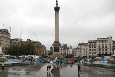 Climate activists in London shift site but keep up protests