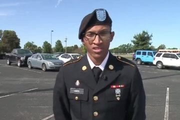 Soldier surprises his mom at Indiana school