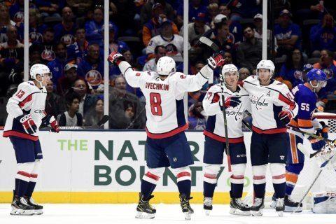 Samsonov wins NHL debut as Capitals beat Islanders 2-1