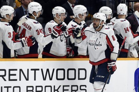 Ekholm's late goal leads Predators over Capitals, 6-5