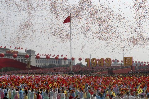 AP PHOTOS: China marks National Day with military might