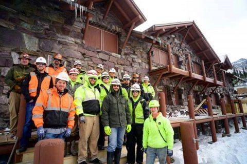 Rebuilding of historic Glacier National Park chalet finished