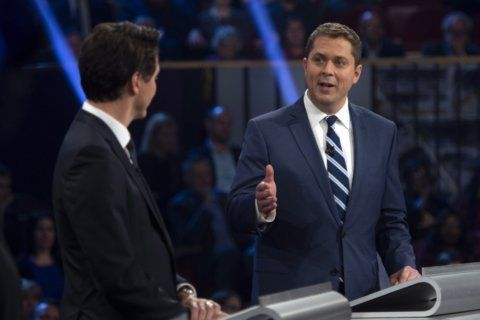 Conservative leader calls Trudeau a fraud in Canadian debate