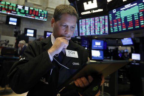 Stocks move broadly lower as investors turn cautious