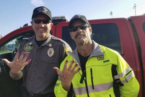 Utah firefighters get purple manicures aiding girl in crash