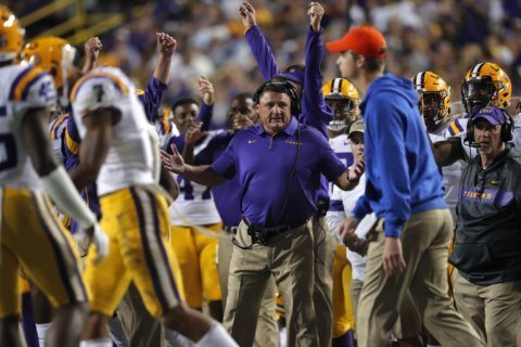 Coach Orgeron: LSU receiver Marshall not yet ready to play