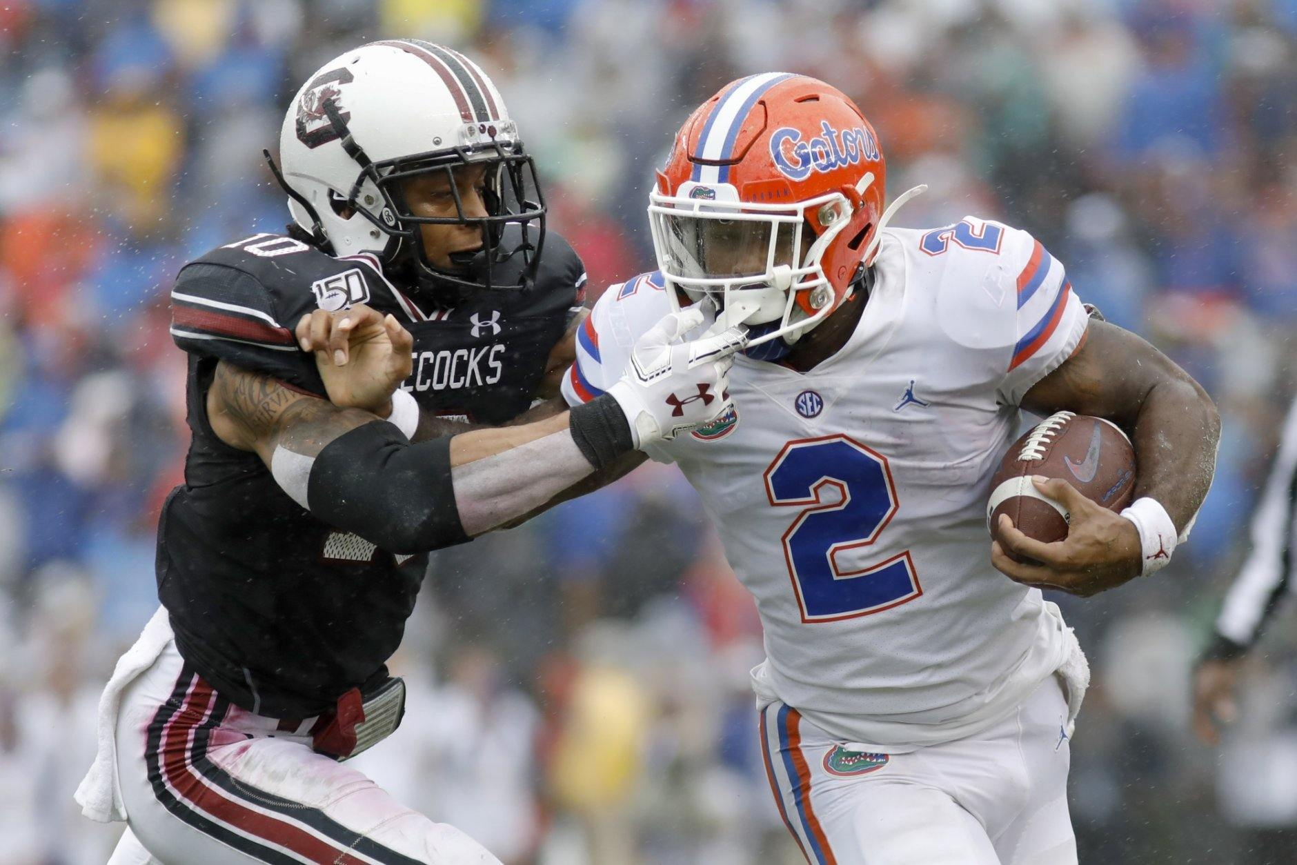 <p><strong>No. 10 Florida (7-2):</strong> Win out, Georgia lose twice in conference, win SEC championship</p> <p>Florida's chances became microscopic with its loss to Georgia last week. And while it's tough to imagine the Bulldogs losing two of their final four games, doing so would keep the door ajar for the Gators. Run the table, then take down an undefeated Alabama or LSU in the title game? It's not likely, but it's possible.</p>